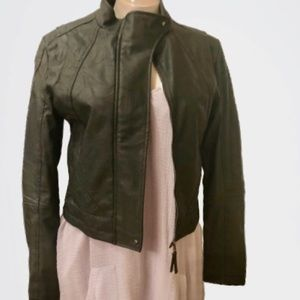 Jack by BB Dakota Dark Green Faux Leather jacket